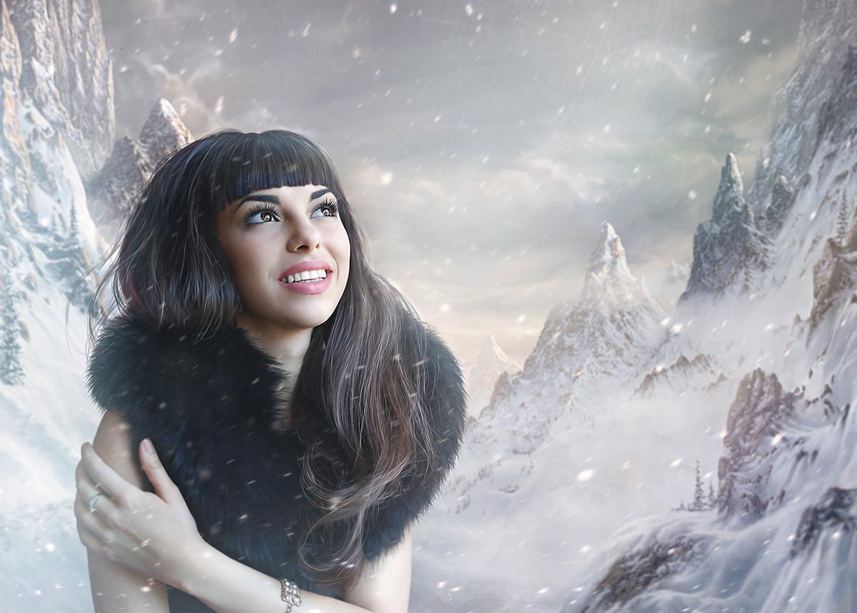Пример фотомонтажа зима на заказ итог