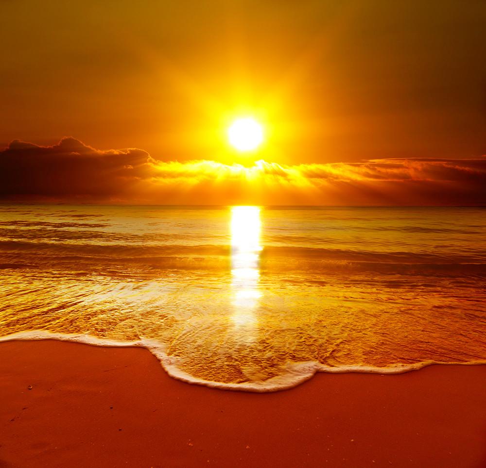 Пример фото заката. Солнце без засветов.