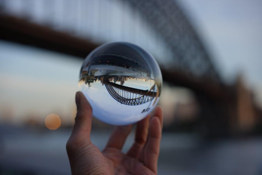 Пример съемки через стекло