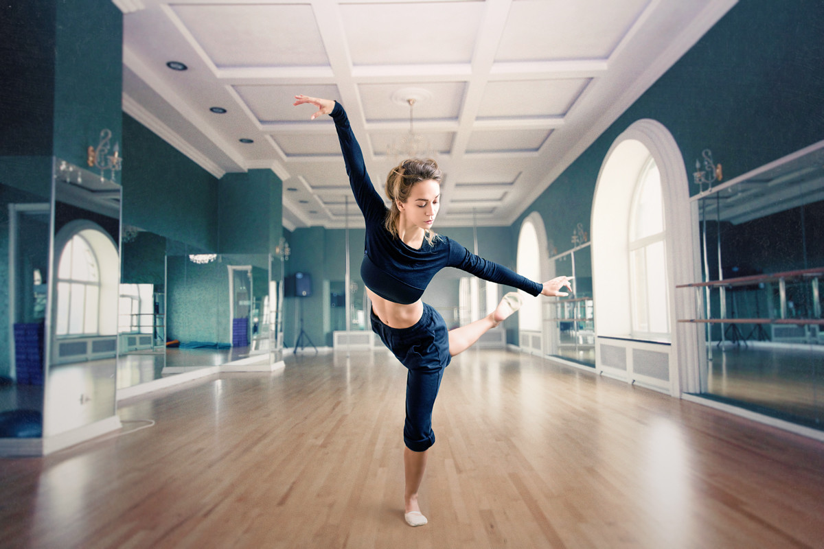 Естественный фотомонтаж на заказ, танцовщица