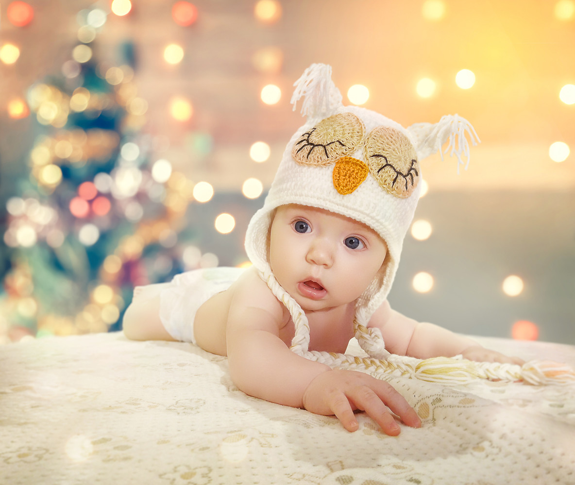 Новогодний фотомонтаж обработка детского фото на заказ пример