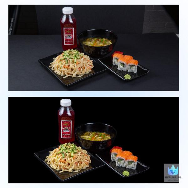 Профессиональная обработка, ретушь еды, фото до и после