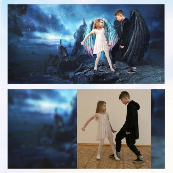 Заказать арт фотомонтаж детского фото с примерами до и после, цена