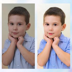 Заказать обработку и ретушь детского фото с примерами до и после, цена