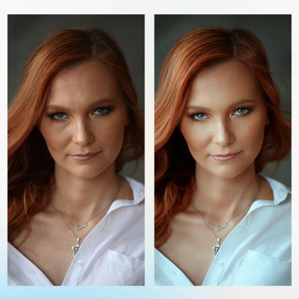 Заказать бьюти ретушь фото портрета с примерами до и после, цена