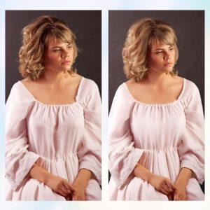 Заказать ретушь платья с примерами до и после, цена