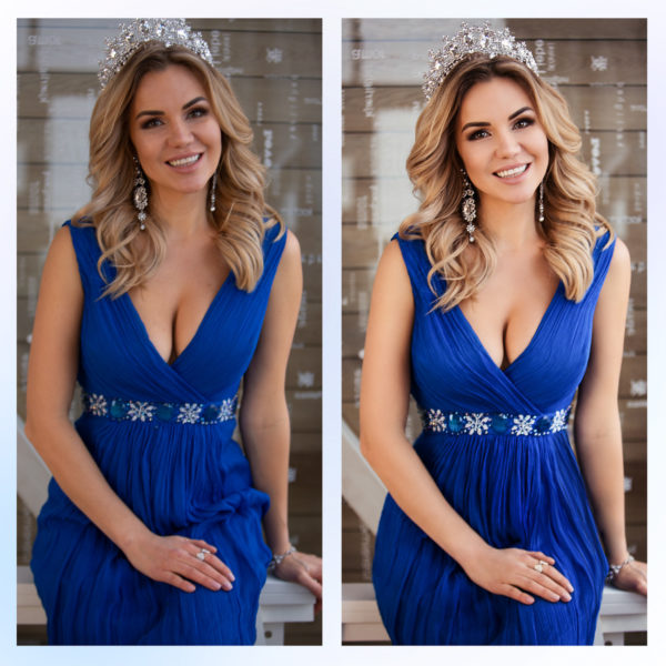 Ретушь одежды, платья онлайн до и после