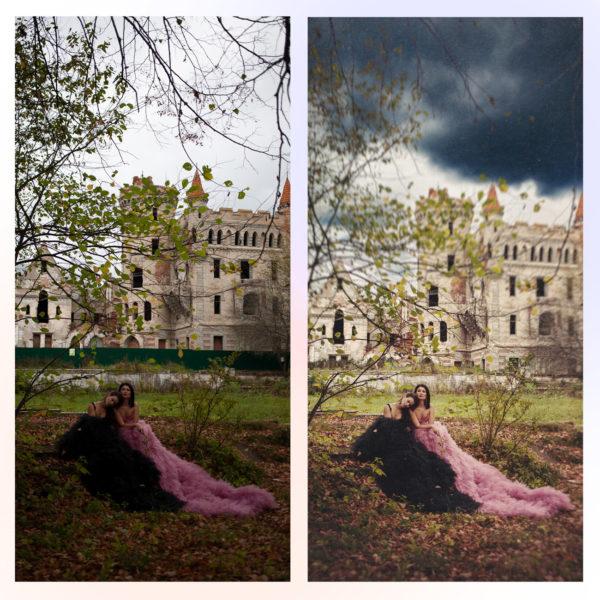 Художественная обработка и ретушь фото онлайн до и после