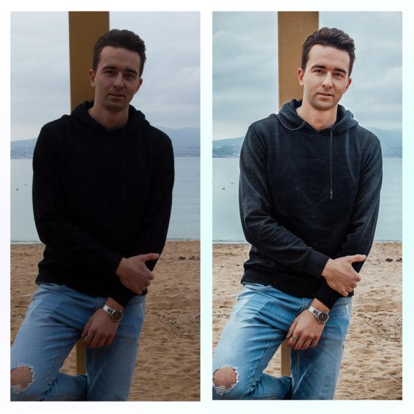 Художественная обработка и ретушь мужского фото онлайн до и после